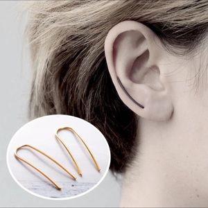 ⚜️[𝟯/$𝟭𝟴]⚜️Gold Long Bar Climber Earrings NEW